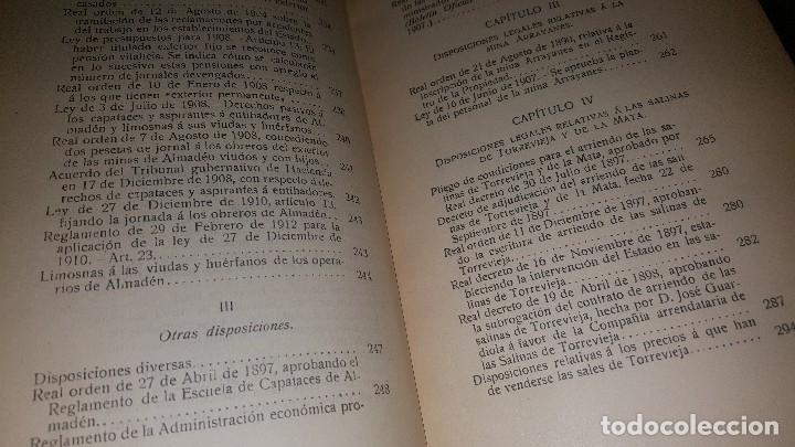 Libros antiguos: Minas y salinas propiedad del estado, año de 1916..disposiciones legales referentes a las minas de.. - Foto 11 - 173865507