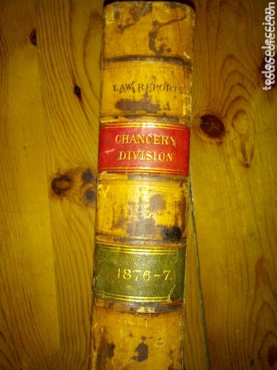Libros antiguos: Libro LAW REPORTS 1876-1877 CHANCERY DIVISION. VOLUMEN 4 - Foto 3 - 174183317
