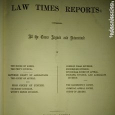 Libros antiguos: LIBRO LAW TIMES REPORS 1877-1878. ALL THE CASES ARGUED AND DETERMINED. Lote 174183558