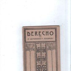 Libros antiguos: DERECHO. D. VICTORIANO. F. ASCARZA. EL MAGISTERIO ESPAÑOL. 1921.. Lote 174228727