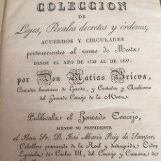 Libros antiguos: COLECCIÓN DE ÓRDENES DEL RAMO DE MESTA (1828). Lote 175209447