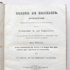 Libros antiguos: CODIGO DE COMERCIO. MADRID : I BOIX, EDITOR, 1841.. Lote 175292513