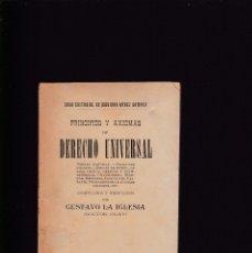 Libri antichi: PRINCIPIOS Y AXIOMAS DE DERECHO UNIVERSAL - GUSTAVO LA IGLESIA - MADRID SIC. 1910. Lote 176277158