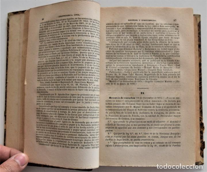 Libros antiguos: COLECCIÓN COMPLETA DE LOS RECURSOS DE CASACIÓN DEL 1º SEMESTRE DE 1875 - MADRID 1875 - Foto 5 - 176696057