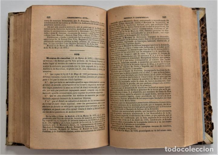 Libros antiguos: COLECCIÓN COMPLETA DE LOS RECURSOS DE CASACIÓN DEL 1º SEMESTRE DE 1875 - MADRID 1875 - Foto 6 - 176696057