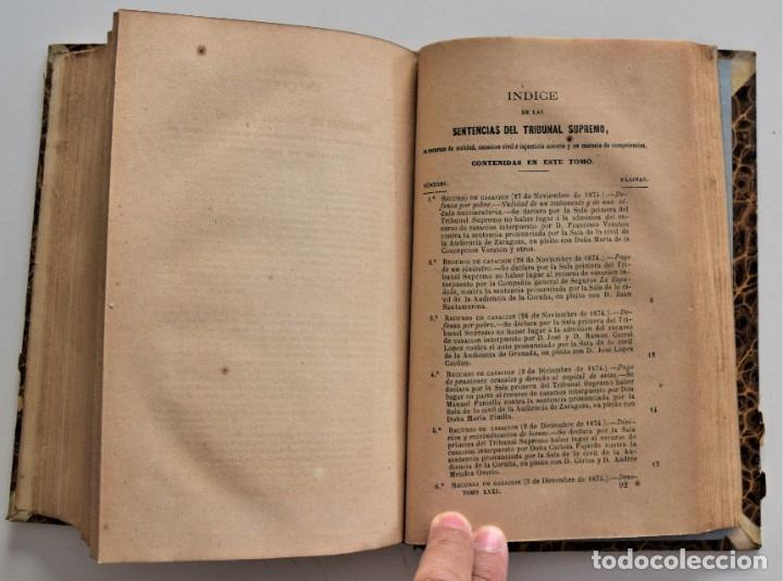 Libros antiguos: COLECCIÓN COMPLETA DE LOS RECURSOS DE CASACIÓN DEL 1º SEMESTRE DE 1875 - MADRID 1875 - Foto 7 - 176696057