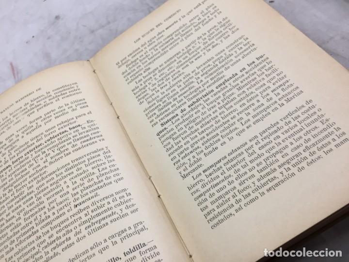 Libros antiguos: Libro manejo marinero de los buques de comercio, Blanco (jefe de la armada) y Boado 1919 - Foto 4 - 177009588