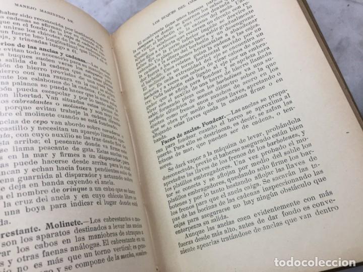 Libros antiguos: Libro manejo marinero de los buques de comercio, Blanco (jefe de la armada) y Boado 1919 - Foto 6 - 177009588