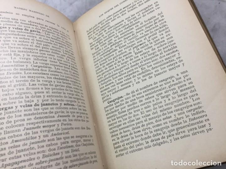Libros antiguos: Libro manejo marinero de los buques de comercio, Blanco (jefe de la armada) y Boado 1919 - Foto 8 - 177009588