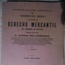 Libros antiguos: DERECHO MERCANTIL-ANTONIO DIAZ DOMINGUEZ. Lote 177219074