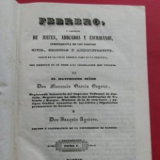 Libros antiguos: FEBRERO NOVÍSIMO O LIBRERÍA DE JUECES, ABOGADOS Y ESCRIBANOS. 2 TOMO 1841.. HOLANDESA. 302 Y 306 PÁG. Lote 177591647
