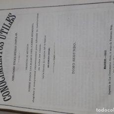 Libros antiguos: 1869 LOS CONOCIMIENTOS UTILES 3 TOMOS GRABADOS FRANCISCO CARVAJAL. Lote 178353176
