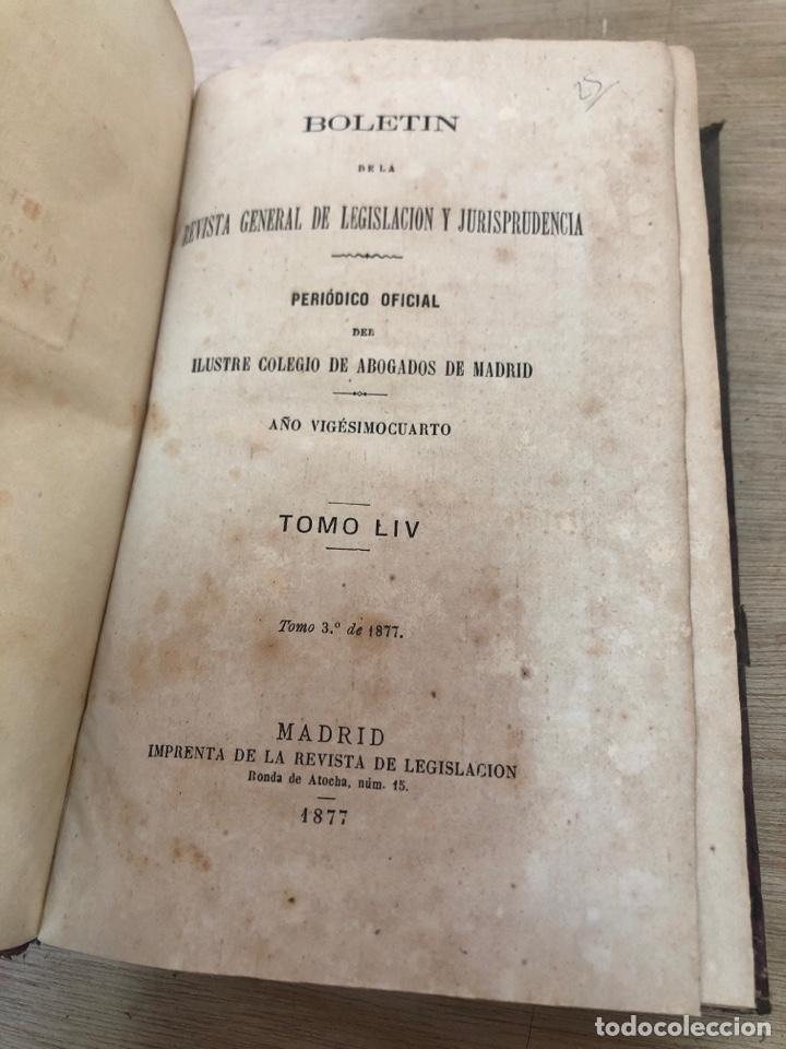 Libros antiguos: Boletin de la revista general de legislación y jurisprudencia - Foto 3 - 178403797