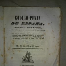 Libros antiguos: CODIGO PENAL DE ESPAÑA - AÑO 1850 - REALES DECRETOS.. Lote 178687061