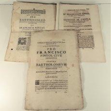 Libros antiguos: DOCUMENTOS JURÍDICOS. VARIOS AUTORES. VARIAS EDITORIALES. SIGLO XVII-XVIII.. Lote 178932560