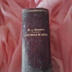 Libros antiguos: LIBRO ANTIGUO DERECHO LEYES CIVILES DE ESPAÑA Y CODIGO CIVIL, COMERCIO, Y LEY HIPOTECARIA 1898 . Lote 179202817