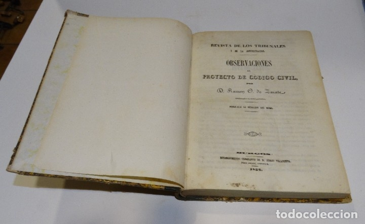 Libros antiguos: REVISTA DE LOS TRIBUNALES Y DE LA ADMINISTRACIÓN POR RAMÓN O. DE ZARATE. 1852. BURGOS - Foto 2 - 179326558