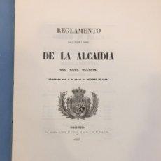 Libros antiguos: REGLAMENTO PARA EL REGIMEN DE GOBIERNO DE LA ALCALDIA DEL REAL PALACIO MADRID IMPRESOR DE CAMARA 184. Lote 179946733