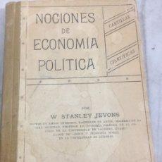 Libros antiguos: NOCIONES DE ECONOMÍA POLÍTICA STANLEY JEVONS 1887 EX LIBRIS JULIO PUYOL. Lote 180032933