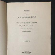 Libros antiguos: ALVARO CAMPANER Y FUERTES. OJEADA HISTÓRICA A LA ANTIGUA LEGISLACIÓN MERCANTIL DEL PRINCIPADO, 1859.. Lote 180086405