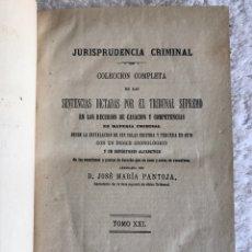 Libros antiguos: JURISPRUDENCIA CRIMINAL - COLECCIÓN COMPLETA DE LAS SENTENCIAS DICTADAS POR EL TRIBUNAL SUPREMO. Lote 180325408