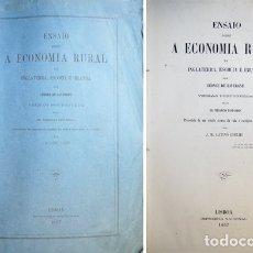 Libros antiguos: LAVERGNE, LÉONCE G. ENSAIO SOBRE A ECONOMIA RURAL DA INGLATERRA, ESCOCIA E IRLANDA. 1867.. Lote 180330515