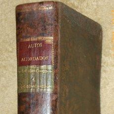 Libros antiguos: TOMO QUARTO DE AUTOS-ACORDADOS, QUE CONTIENE LOS LIBROS SEXTO, SEPTIMO, OCTAVO Y NONO.... Lote 180516395