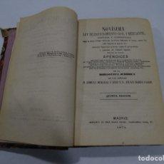 Libros antiguos: NOVISIMA LEY DE ENJUICIAMIENTO CIVIL Y MERCANTIL ROMULO MORAGAS Y DROZ 1873. Lote 180846843