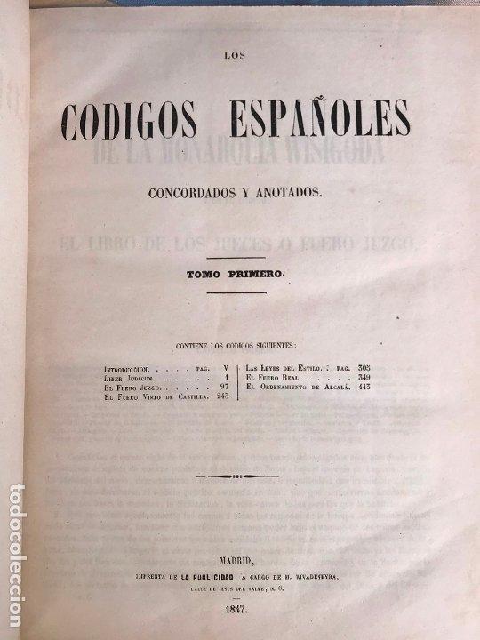 Libros antiguos: Los Códigos Españoles Concordados y Anotados 1847 - Foto 7 - 180902365