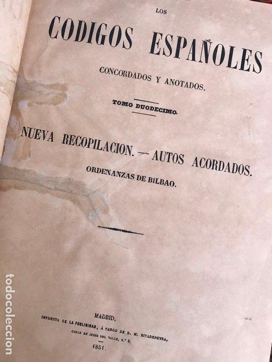 Libros antiguos: Los Códigos Españoles Concordados y Anotados 1847 - Foto 12 - 180902365