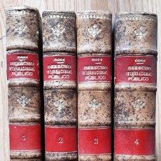 Libros antiguos: DERECHO INTERNACIONAL PÚBLICO (PASQUALE FIORE 1894) 4 VOLS. PASTA ESPAÑOLA, SIN USAR. Lote 182020748