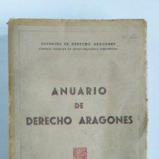 Libros antiguos: ANUARIO DE DERECHO ARAGONÉS. 1944. Lote 182058351