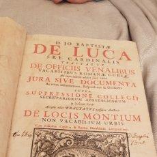 Libros antiguos: PRECIOSO LIBRO CON TAPAS DE PIEL PERGAMINO DEL SIGLO XVII AÑO 1697 DE LUCA. Lote 182328601
