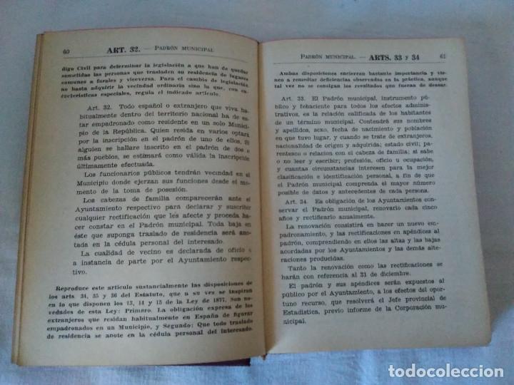 Libros antiguos: 25-LEY MUNICIPAL COMENTADA, Madrid 1935 - Foto 4 - 182433043