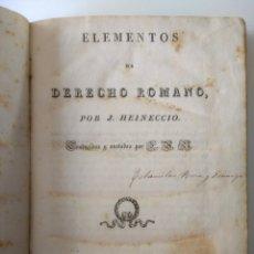 Libros antiguos: ELEMENTOS DE DERECHO ROMANO. Lote 182576210