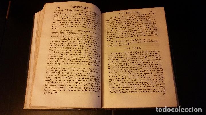 Libros antiguos: 1804 - ALVAREZ POSADILLA - Comentarios a las Leyes de Toro - Foto 4 - 182673642