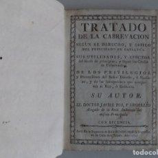 Libros antiguos: LIBRERIA GHOTICA. TRATADO DE CABREVACIÓN SEGUN EL DERECHO DEL PRINCIPADO DE CATALUÑA. 1784.PERGAMINO. Lote 182785957