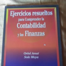 Livres anciens: EJERCICIOS PARA COMPRENDER LA CONTABILIDAD Y LAS FINANZAS.. Lote 183273280
