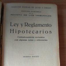 Libros antiguos: LEGISLACIÓN HIPOTECARIA GÓNGORA PRIMERA EDICIÓN. Lote 183567480