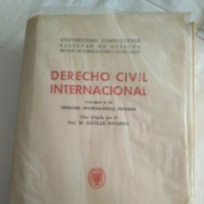 Libros antiguos: DERECHO CIVIL INTERNACIONAL VOLUMEN II AGUILAR NAVARRO 1975 UNIVERSIDAD COMPLUTENSE. Lote 183827653