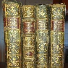 Libros antiguos: JUZGADOS MILITARES DE COLÓN. TOMOS I-II-III-IV. ANO 1788. Lote 186128477