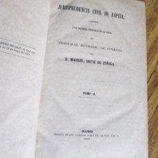 Libros antiguos: JURISPRUDENCIA CIVIL DE ESPAÑA - MANUEL ORTIZ DE ZÚÑIGA - TOMO II - MADRID 1869 . Lote 187217191