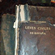 Libros antiguos: 1958 MEDINA Y MARAÑON LEYES CIVILES DE ESPAÑA INSTITUTO EDITORIAL REUS. Lote 187633586