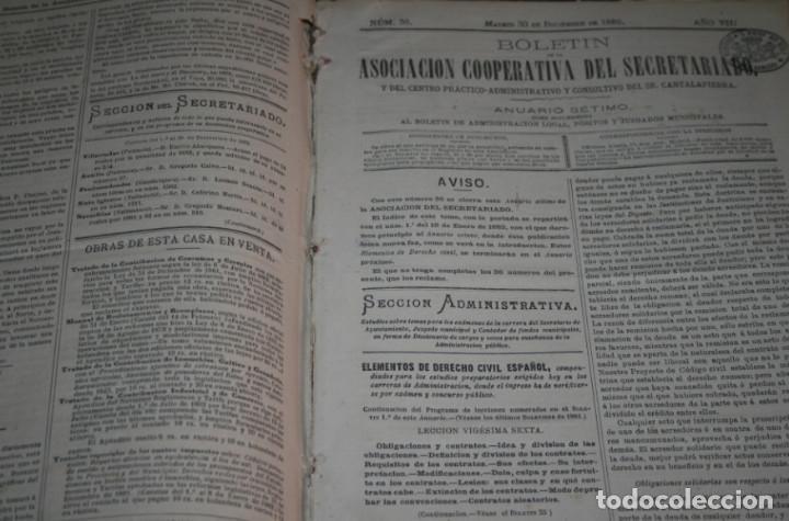Libros antiguos: BOLETIN DEL SECRETARIADO, AÑOS 1881 1882 ASOCIACION COOPERATIVA DEL SECRETARIADO, LIBRO ANTIGUO - Foto 5 - 188432961