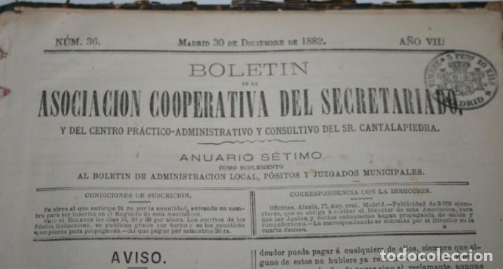 Libros antiguos: BOLETIN DEL SECRETARIADO, AÑOS 1881 1882 ASOCIACION COOPERATIVA DEL SECRETARIADO, LIBRO ANTIGUO - Foto 6 - 188432961