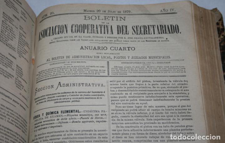 Libros antiguos: BOLETIN DEL SECRETARIADO, AÑOS 1878 1879 1880 ASOCIACION COOPERATIVA DEL SECRETARIADO, LIBRO ANTIGUO - Foto 5 - 188433568