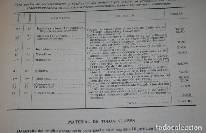 Libros antiguos: GASTOS E INGRESOS PARA EL AÑO 1936, REPULICA ESPAÑOLA, AYUNTAMIENTO DE MADRID, LIBRO ANTIGUO - Foto 5 - 188518198