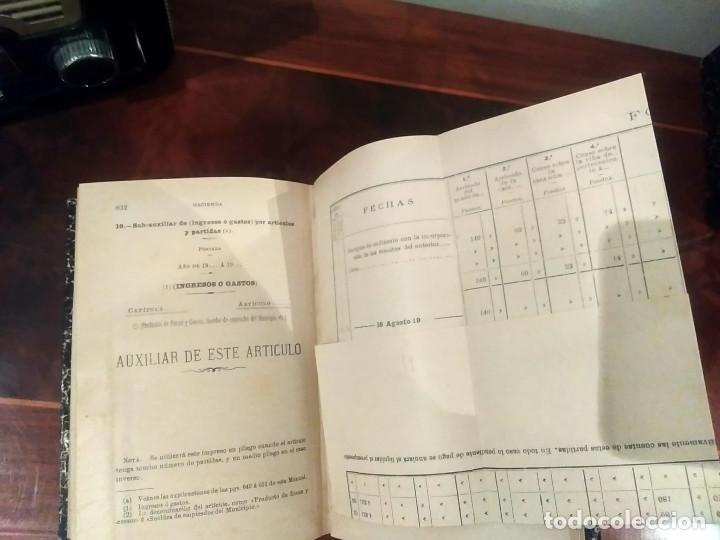 Libros antiguos: MANUAL DE HACIENDA MUNICIPAL- ABELLA - MADRID 1923 (Conserva desplegables) - Foto 7 - 189376058