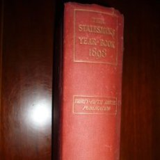 Libros antiguos: THE STATESMAN'S YEAR- BOOK 1898 J.SCOTT KELTIE LONDON THIRTY -FIFTH ANNUAL PUBLICATION . Lote 189522498