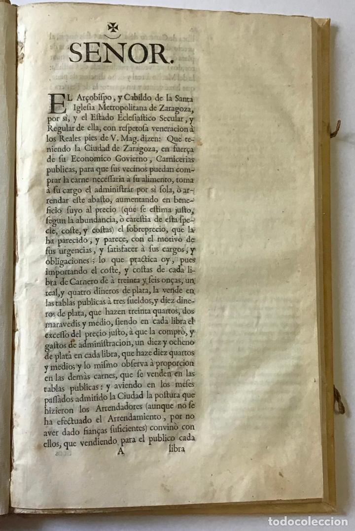 Libros antiguos: Bulla pontificia y cedulas reales confirmatorias de la concordia de el clero cesaraugustano, con la - Foto 2 - 123263607